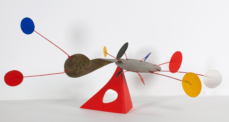 Alexander Calder,  The Amoeba, 1974.Painted sheet metal, wire and brass.
