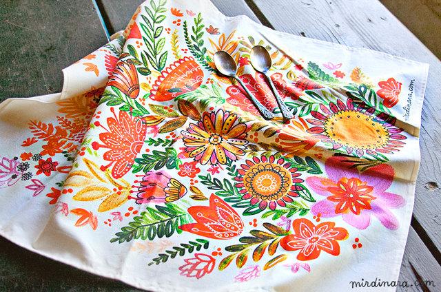 A beautiful tea towel by DinaraMirtalipova.