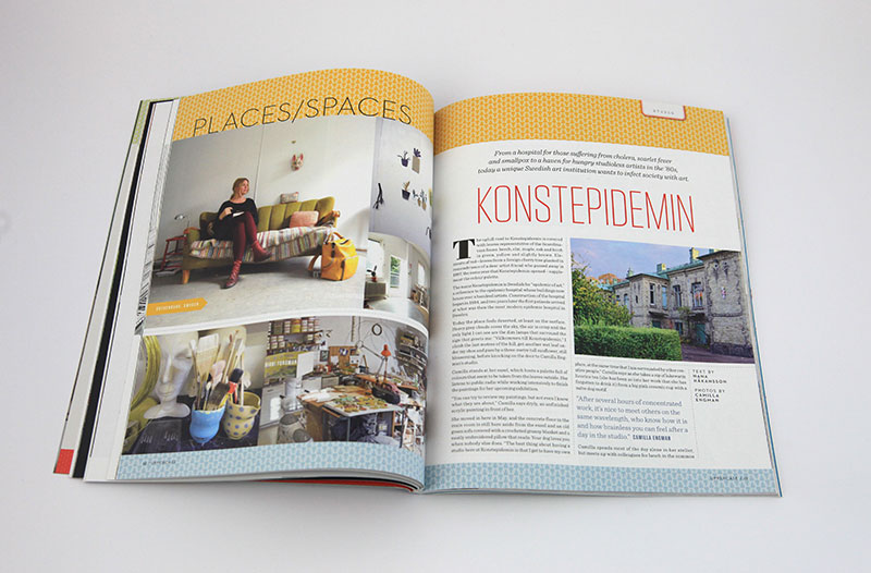 Feature about Konstepidemin, the artist community in Gothenburg where Camilla Engman has her studio.