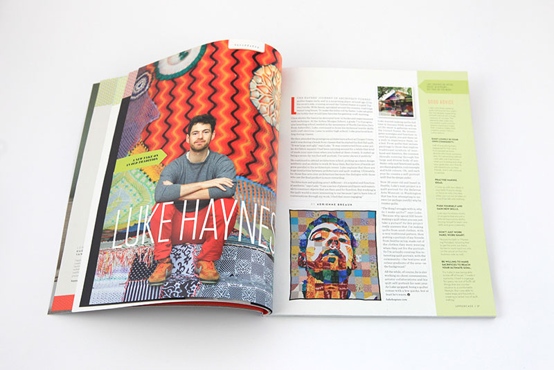 Article about architect-turned-quilter Luke Haynes.