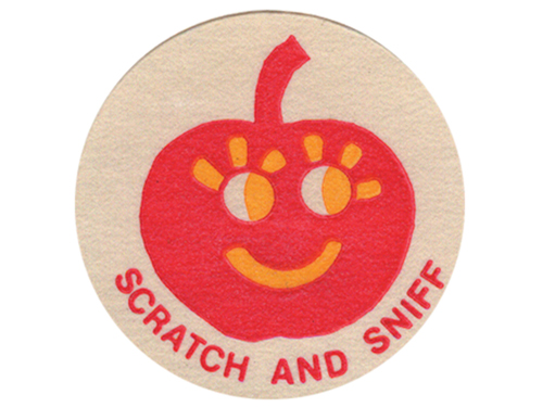 We enjoyed playing with scratch and sniff stickers in preparation for issue #17.