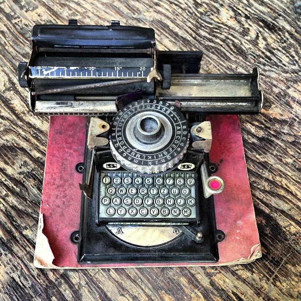 I purchased this toy machine. It will polish up nicely for inclusion in The Typewriter book.