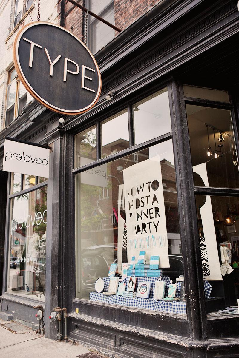 Type Book's Queen Street West location.