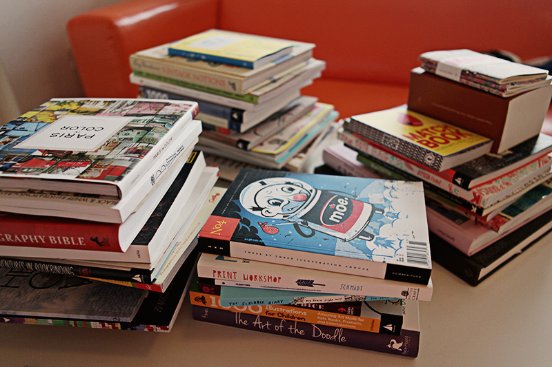 I'm also paring down my reference and inspiration books.