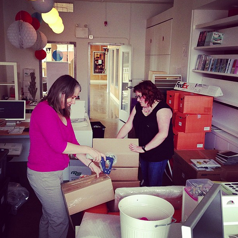 Jocelyn and Erin packing a few days ago.