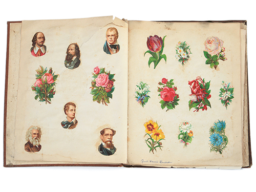 We featured this scrapbook from the 1890s in issue #18.