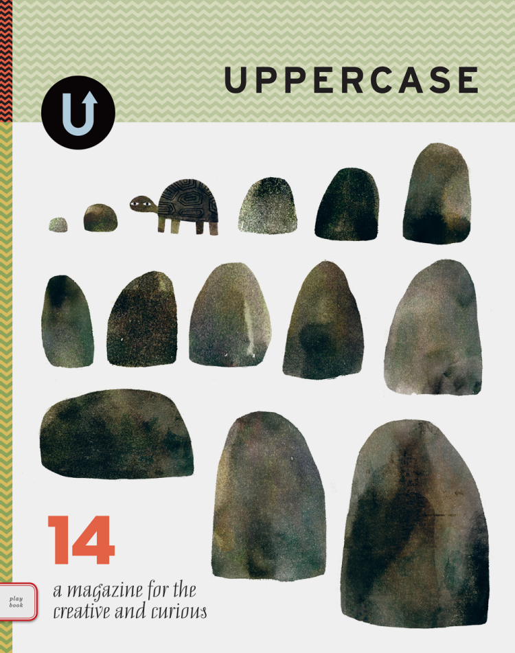 UPPERCASE issue 11 with cover by Jon Klassen. This issue has a special feature about the children's book industry.