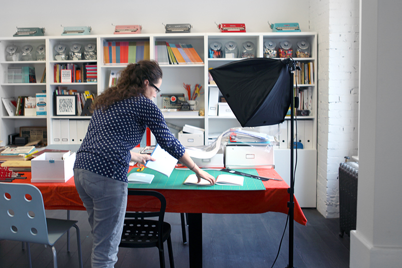 Getting the mockups ready to be photographed.