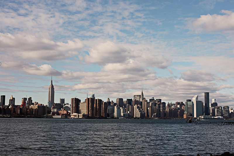 A view of Manhattan from the flea market.