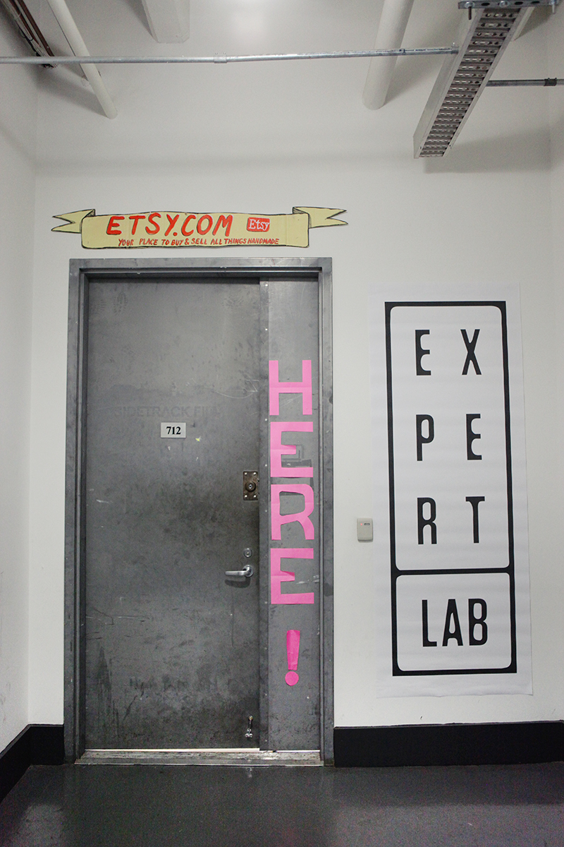 """One of the events of the Nearly Impossible conference was the """"Expert Lab"""" in which you could book 15 minutes with an advisor. It was held at the Etsy headquarter's Lab/event space."""