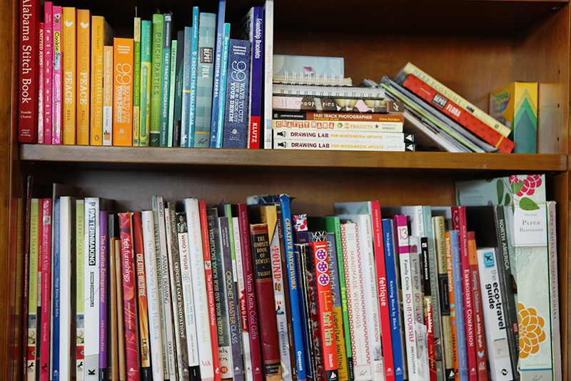 Hmmm... I think UPPERCASE magazine and books should be on these shelves.