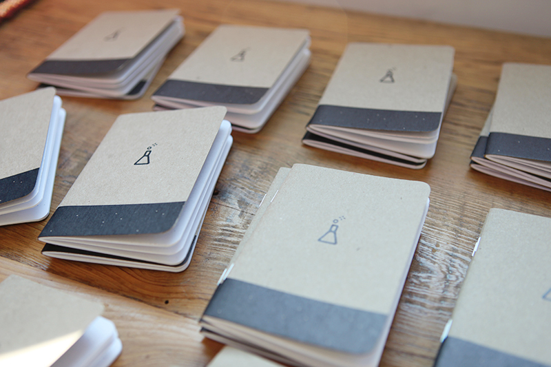 Scoutbooks provided these little notebooks.