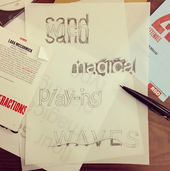 Christopher attended a workshop with   Lara McCormick   and created these lettering sketches.