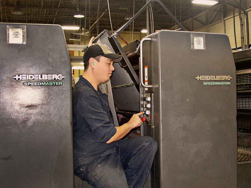 Running a Heidelberg Speedmaster is  not  quite as easy as just pressing a button!