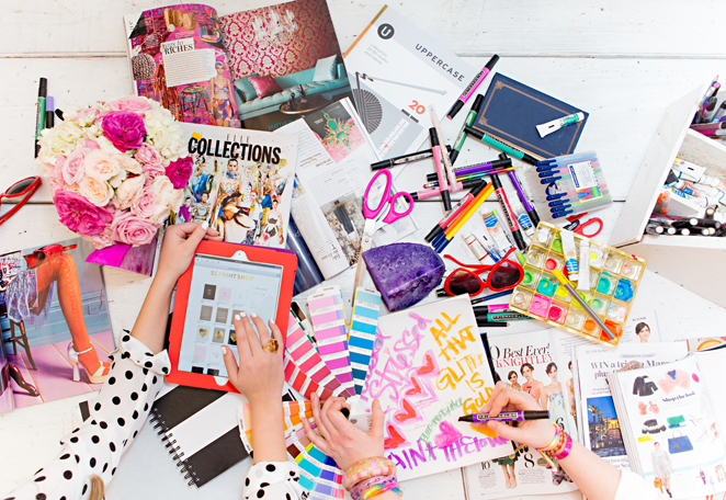 I spy UPPERCASE issue 20 amidst this glorious jumble!