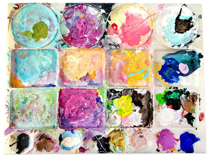Shae Leviston's paint palette