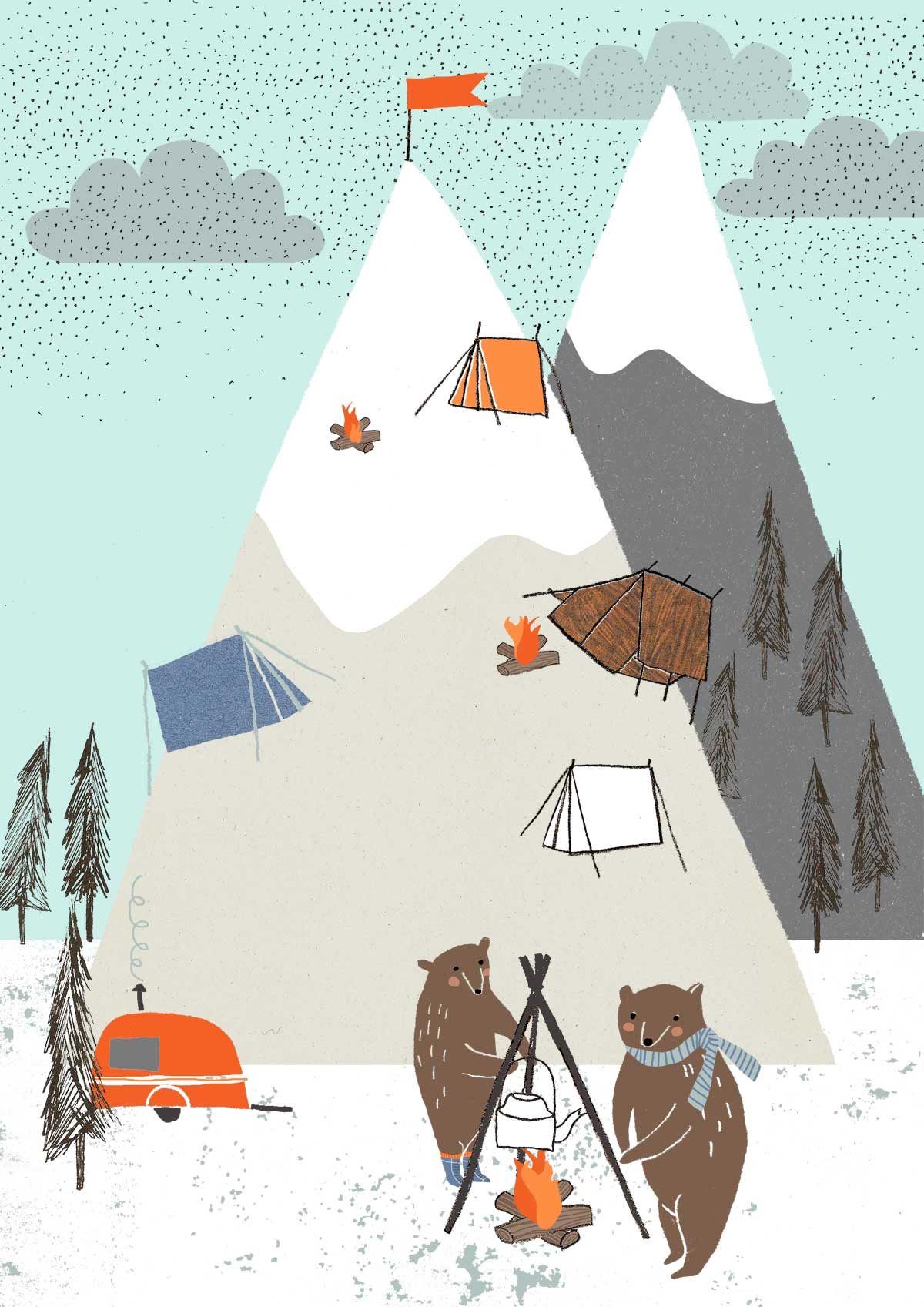 Winter Camping by Kim Welling