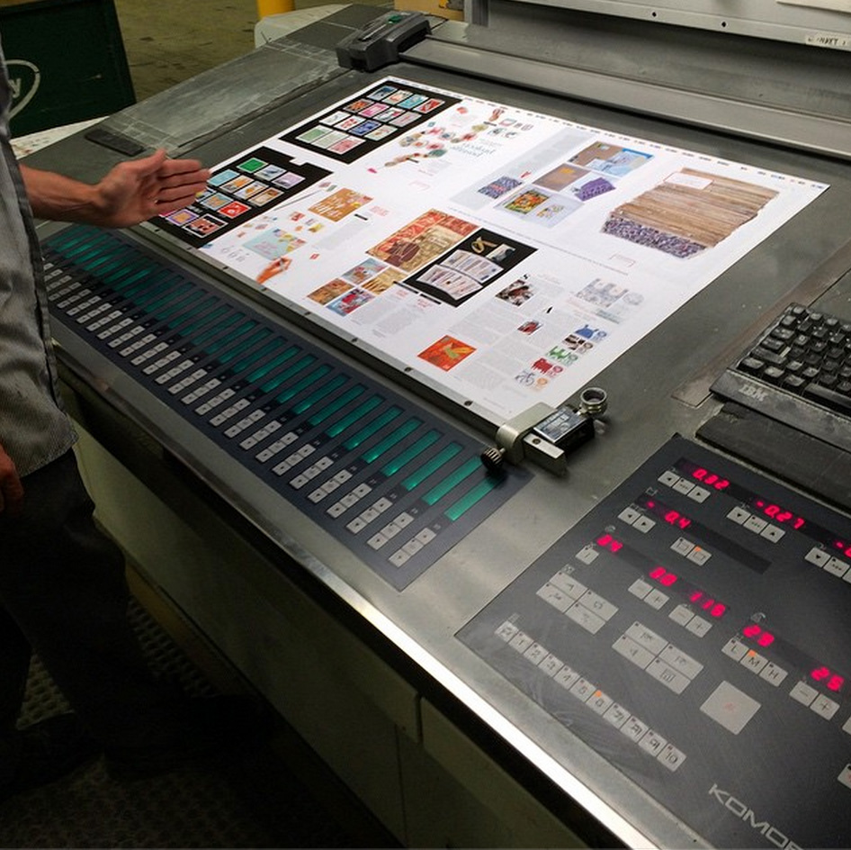 """""""Issue 26, all systems go, we're sailing with the steady hand of press operator Captain Bruce Westmann at the helm of our 10 Color Komori!"""" -  Chris Young, The Prolific Group"""