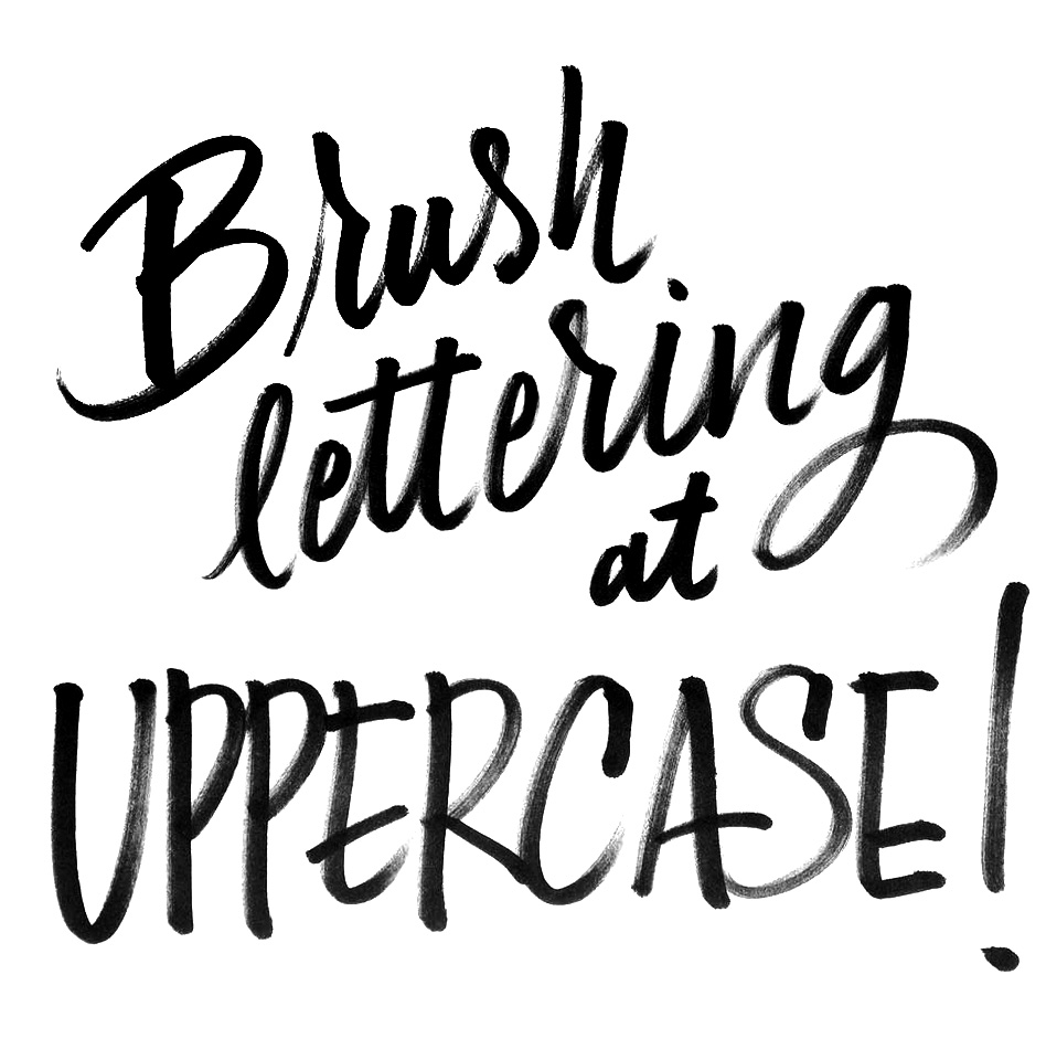 Lettering by workshop instructor Christopher Rouleau