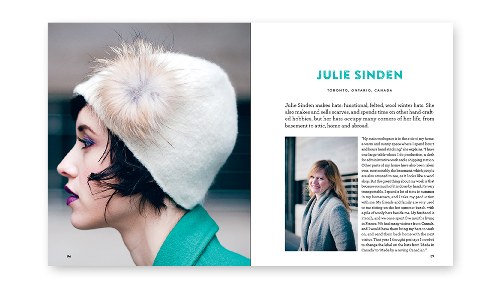 Julie Sinden handmade hats