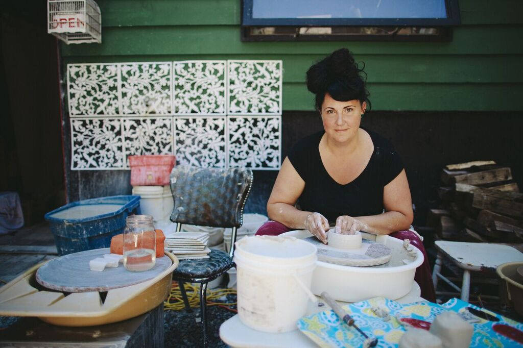 "Julie Mackinnon Ceramics   Julie Mackinnon , who refers to her people as ""clay people"", will bring her high-fired porcelain designs that are gaining fans daily including Canada's most beautiful tea store, Silk Road Tea, who wants her contemporary handmade work in their stores, look for the announcement this spring."
