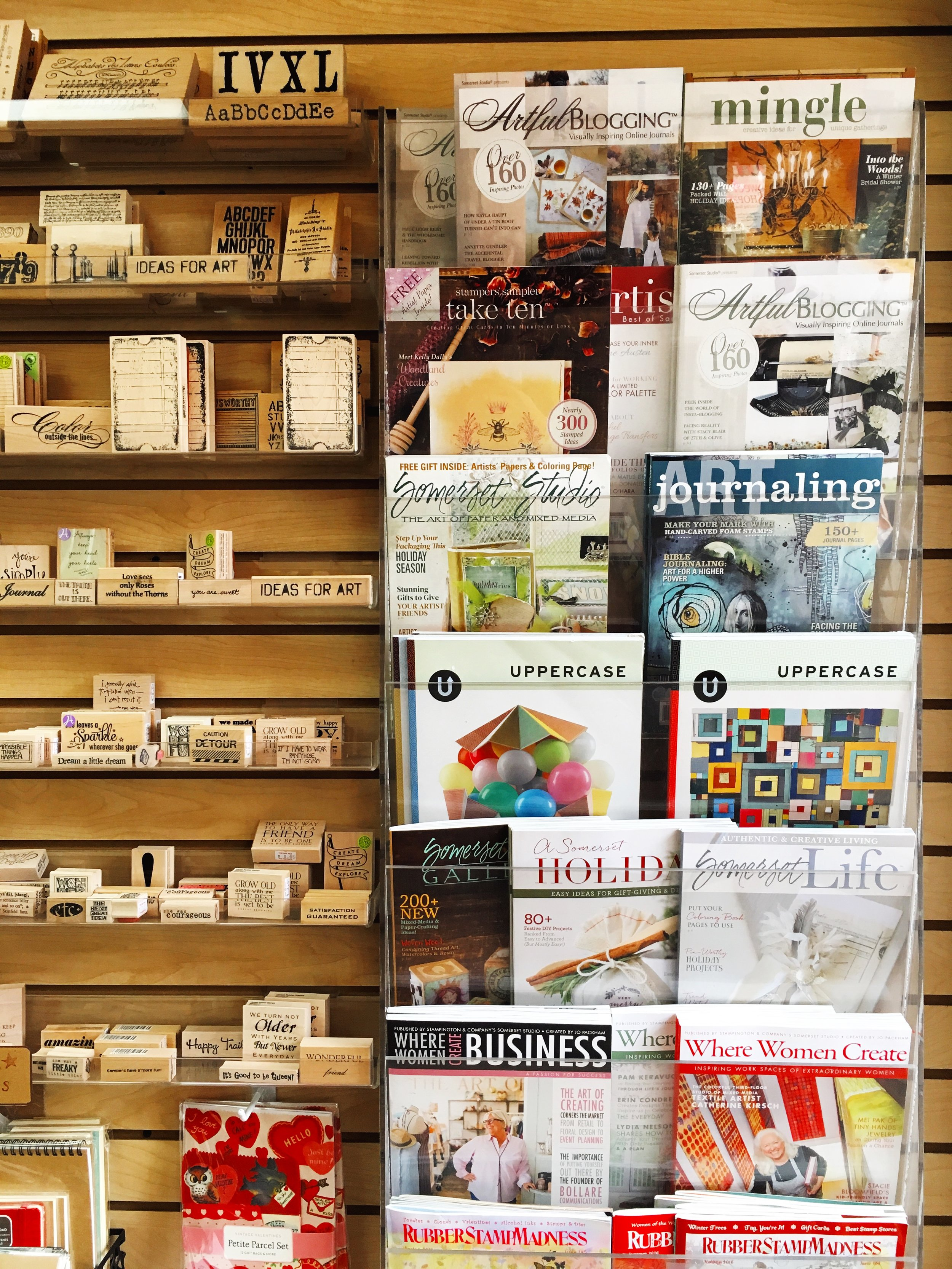 UPPERCASE and other magazines for the creatively inclined.