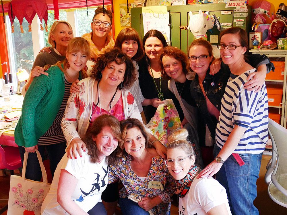 Anne Bentley, Clairice Gifford, Mara Penny, Lilla Rogers, Flora Waycott, Kate Mason, Marenthe Otten, Katie Vernon, Trina Dalziel. Front row: Terri Fry Kasuba, Jessica Allen and Sarah Walsh. Not pictured: Suzy Ultman.