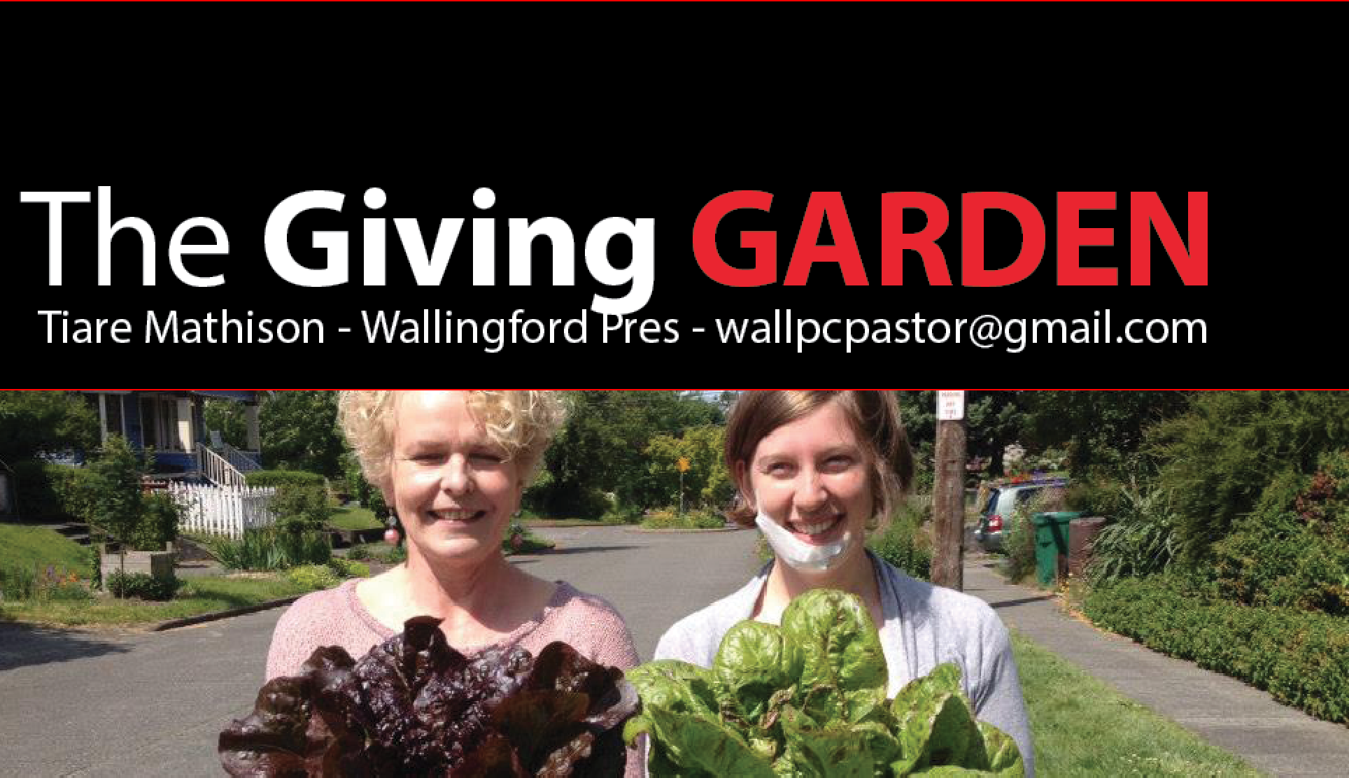 In partnership with Korean Glory and UPC's Ministry with Internationals, Wallingford Presbyterian Church built a vegetable garden on the parking strip of their church.  During their first growing season, they grew and delivered 130 pounds of vegetables to Familyworks, our local foodbank!
