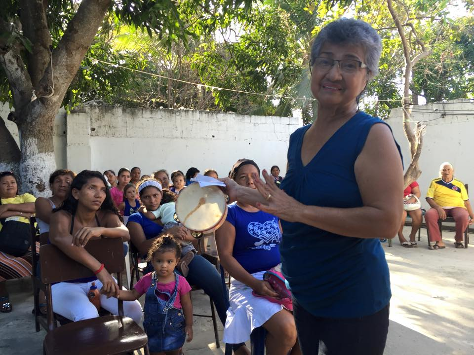 Comunidad Por Fin, a worshiping community of women and children supported by 7th Presbyterian Church Barranquilla   Worship led by deacons from 7th Church