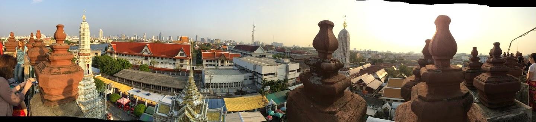 Panoramic view from top of Wat Arun