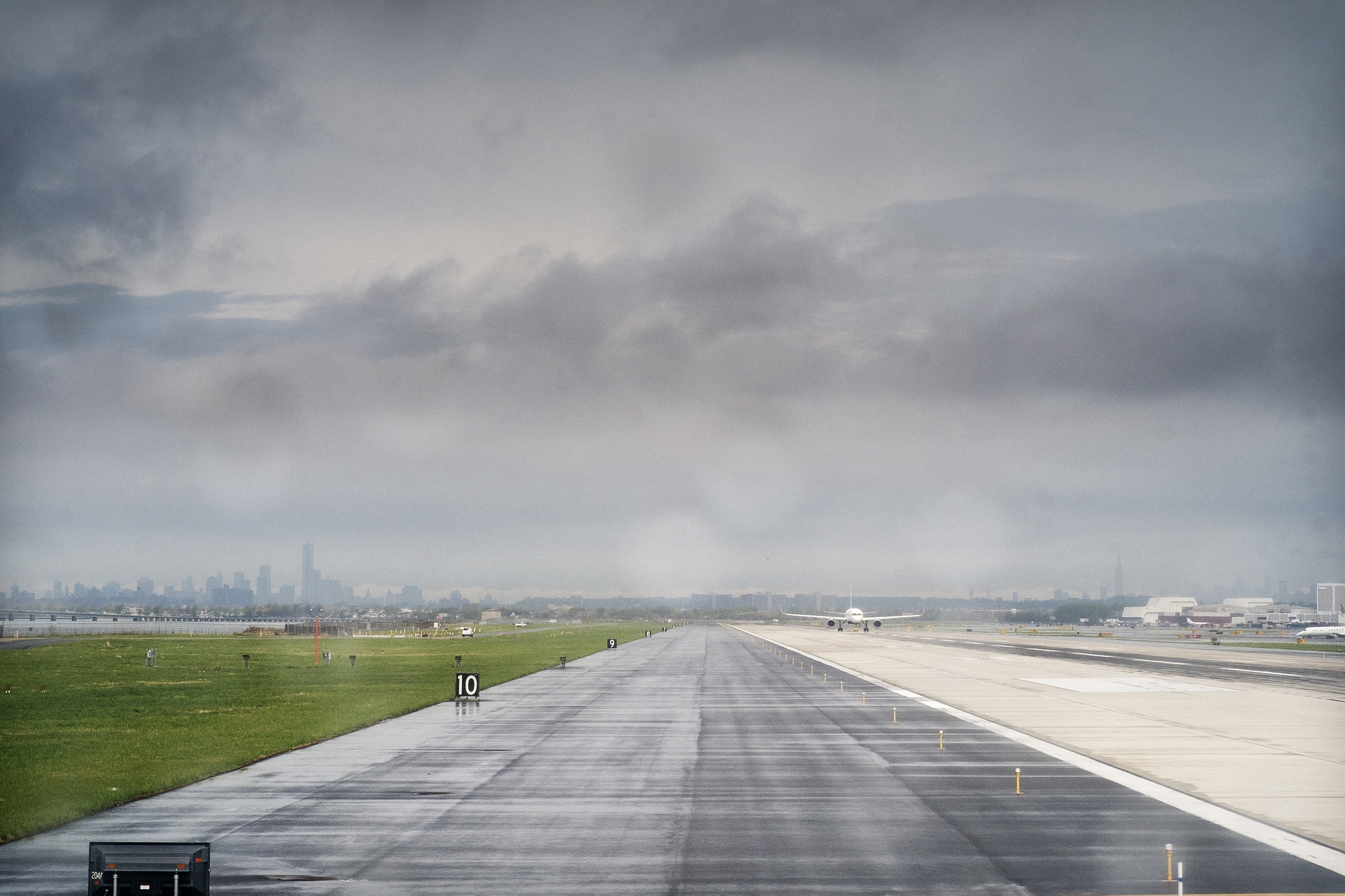 Waiting for takeoff, JFK. (For complete series,  click here )
