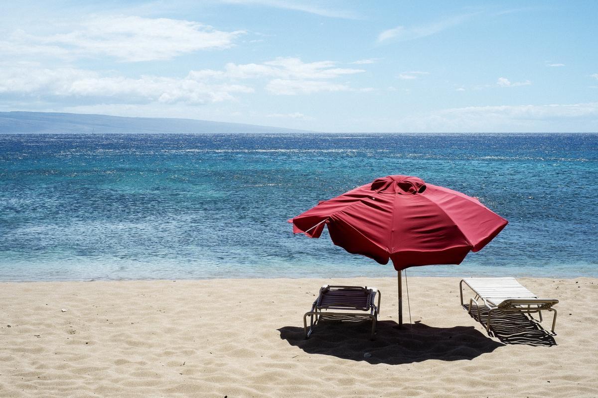 Maui Umbrella, 35mm, 1/300 seconds at f/13. ISO 200.