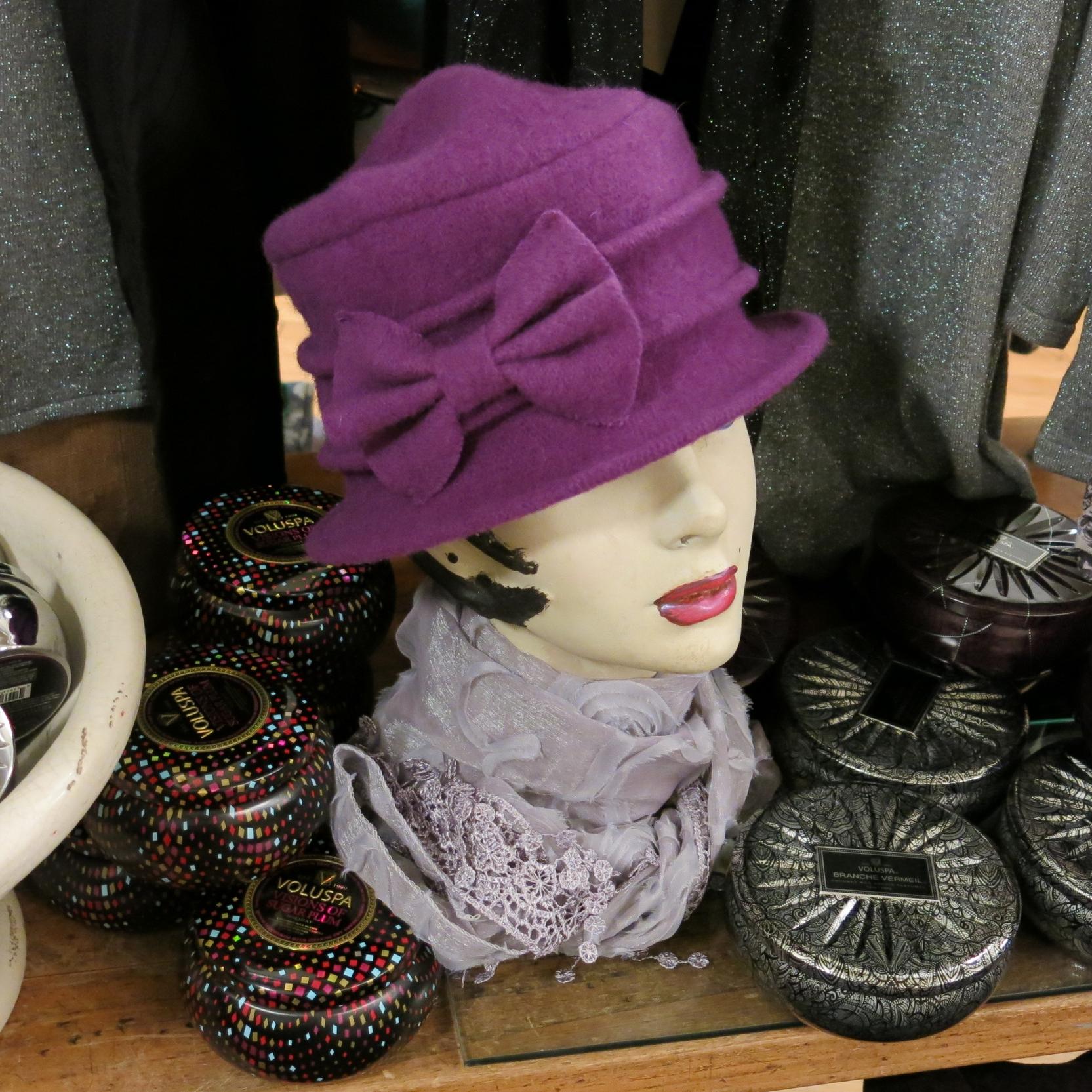 Violet Felt Hat