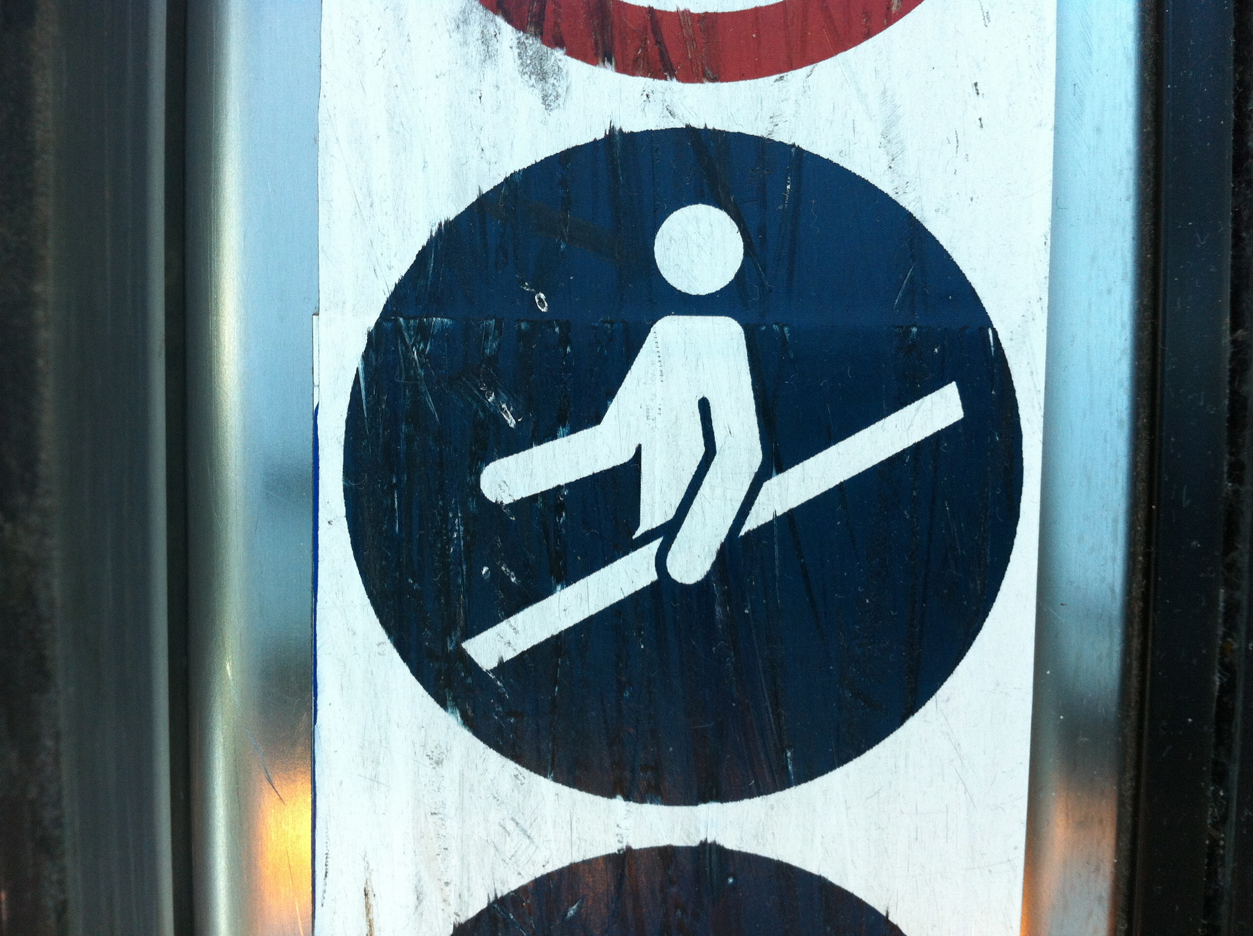 This area reserved for men carrying 2x4s.