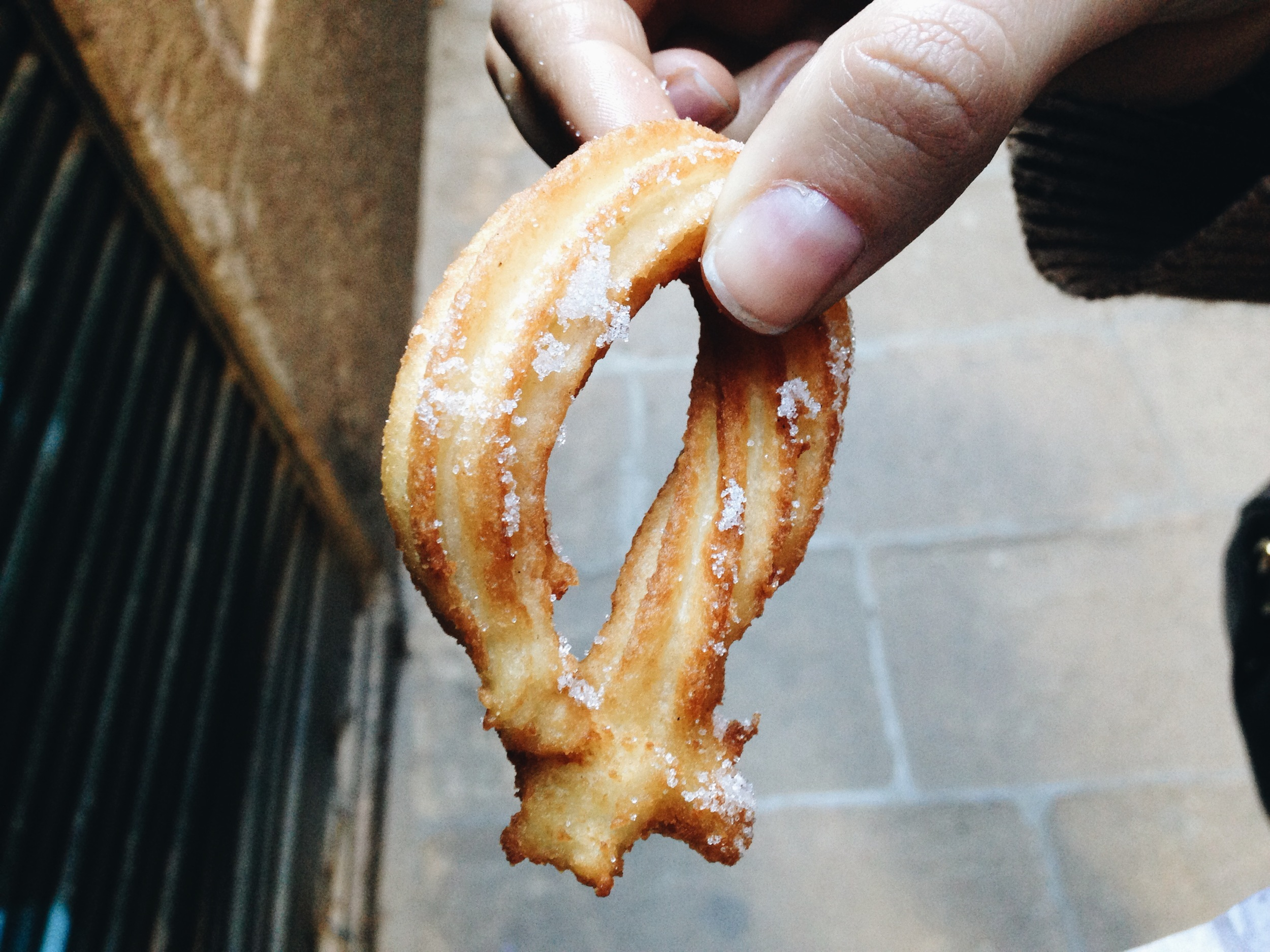 Churros. Hot off the grill. Made by la abuela.