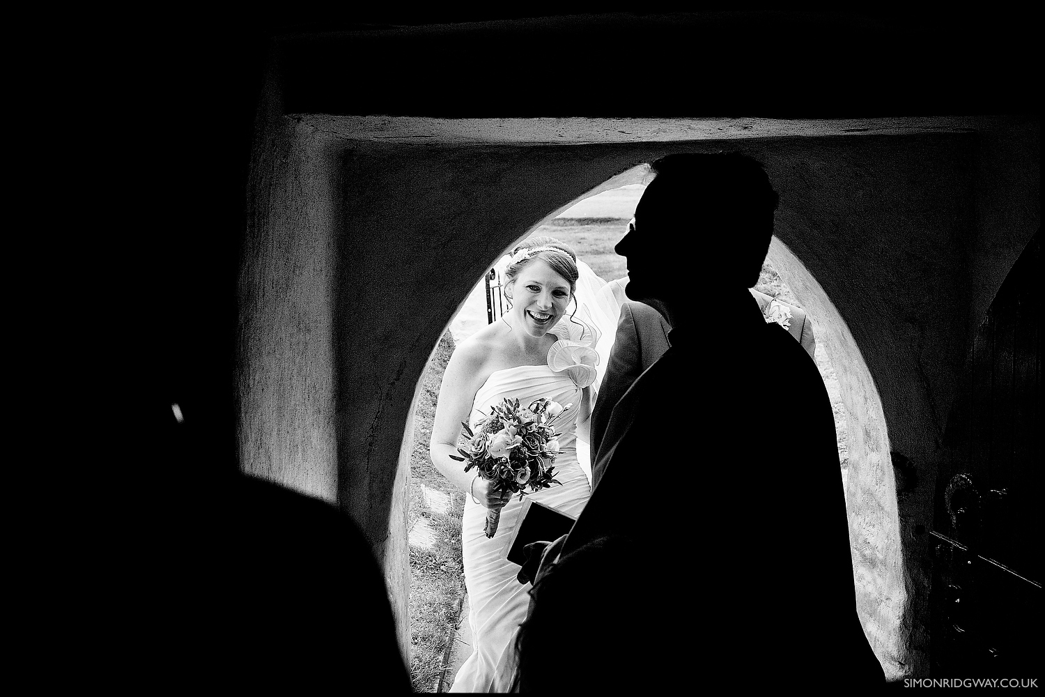 Wedding photography at Mwnt church, Cardigan