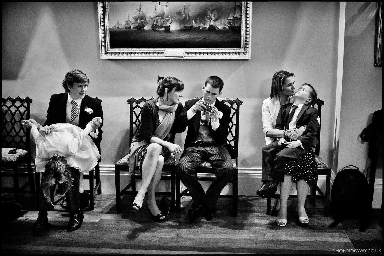 Wedding photojournalism at Merchant's Hall, Bristol.