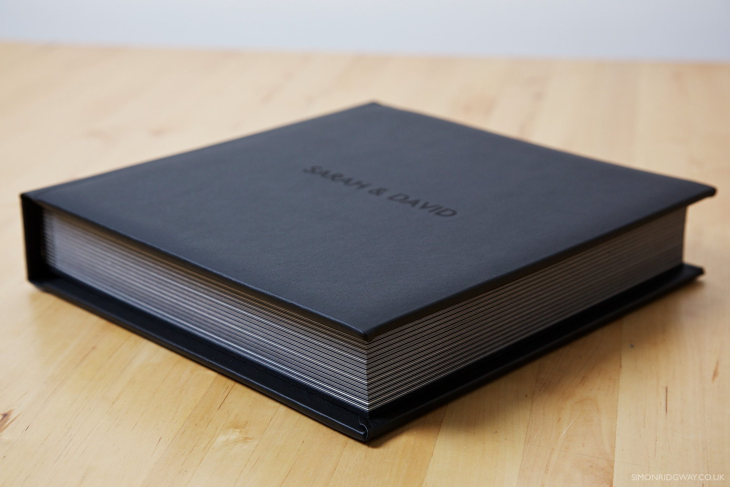 "12x12"" Black Leather Album with 15 Spreads (30 Pages)"