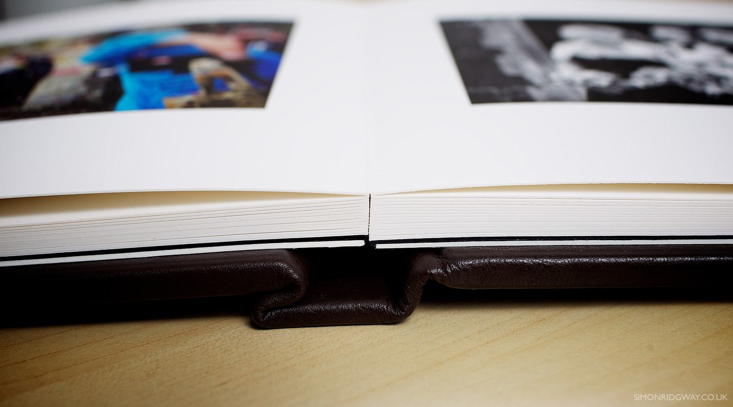 Pages are printed on fine-art paper and bound to lay flat
