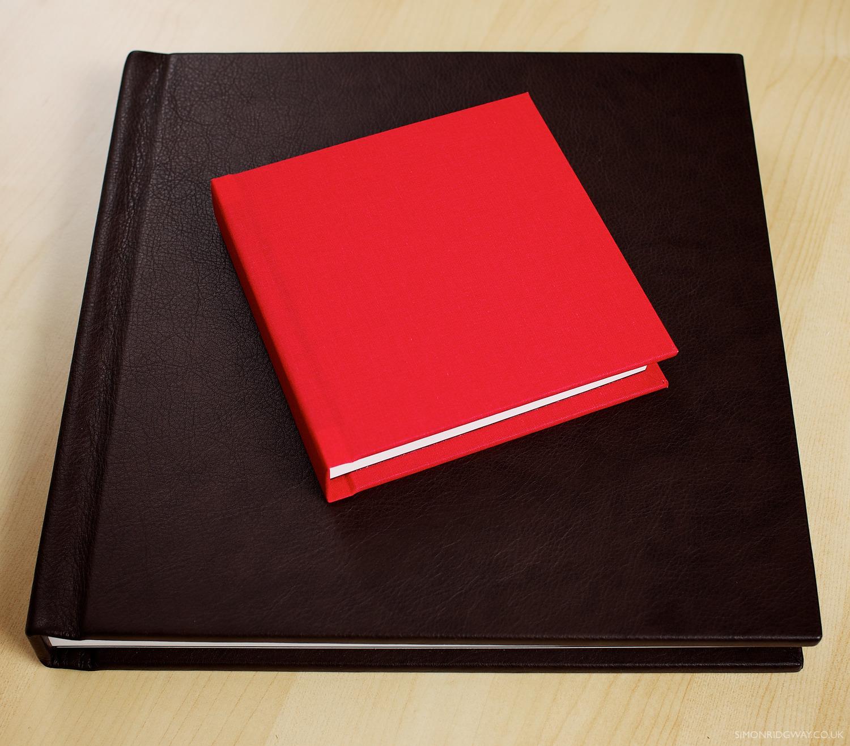 "12x12"" leather album with 6x6"" cotton copy album"