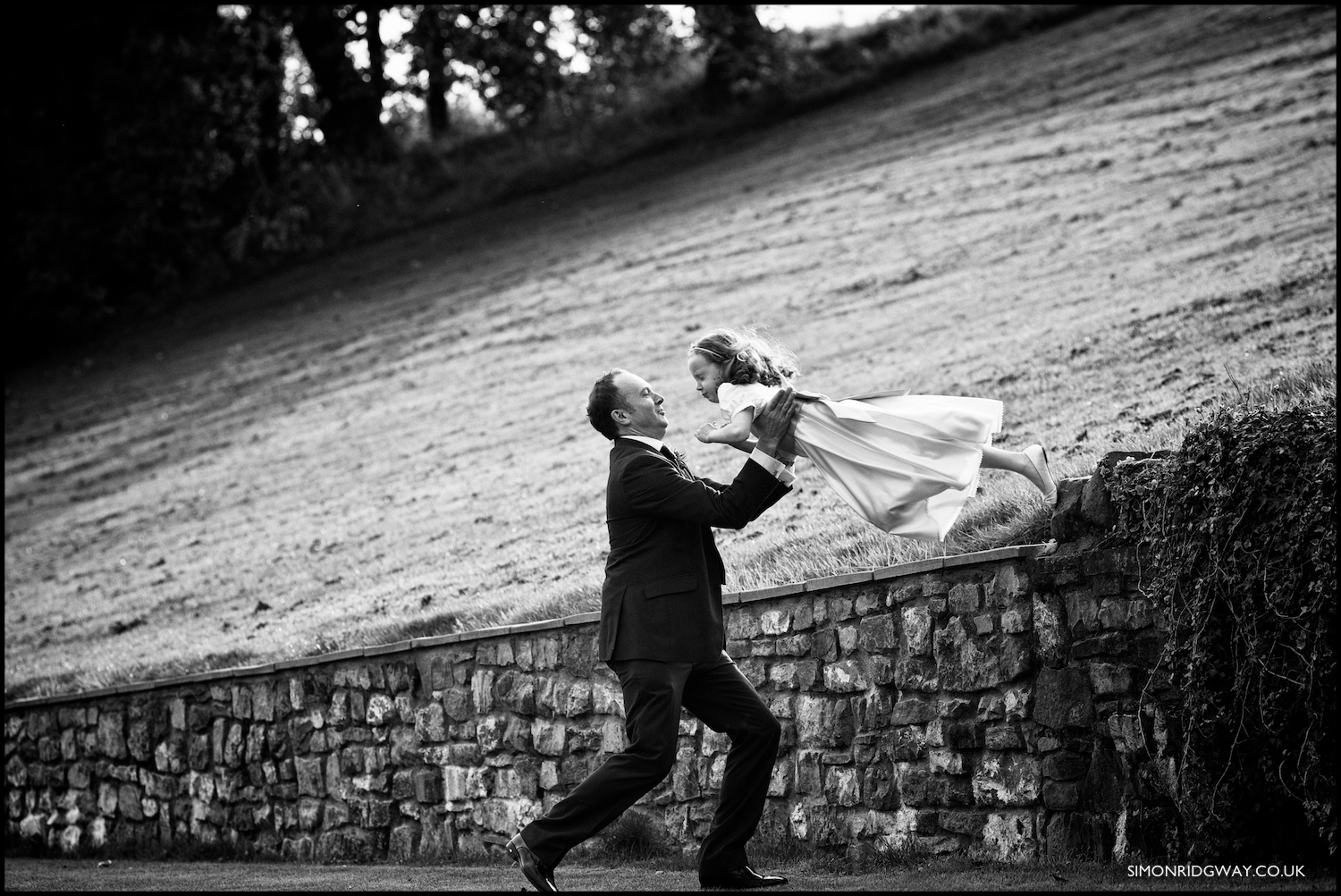 Documentary wedding photography at Canada Lodge, Cardiff