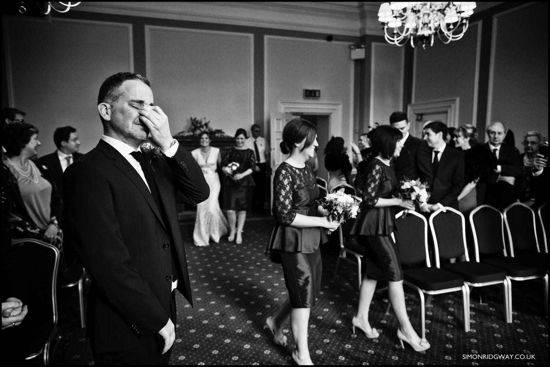 Wedding photography at Cardiff City Hall