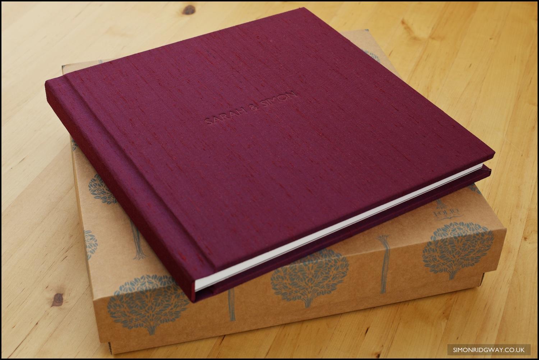 """12x12"""" 20 spread Folio album with silk cover"""