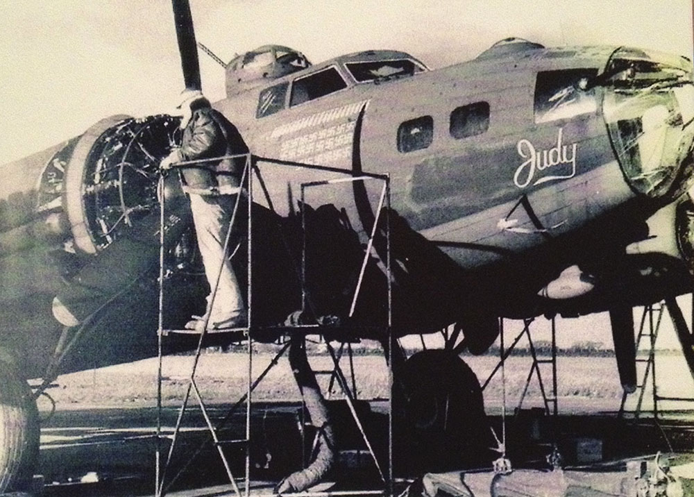 """Photo reference of the original B-17 """"Judy"""""""
