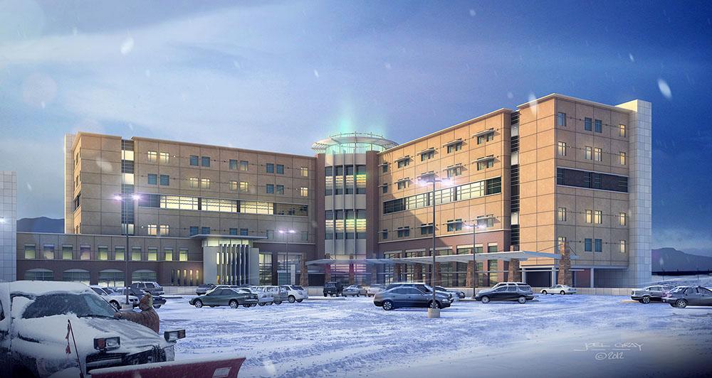 St. Francis Medical Center -3D Rendering