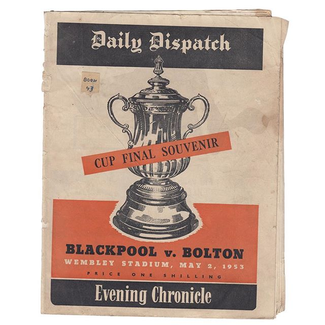1953 Daily Dispatch FA Cup Souvenir Edition. Blackpool v. Bolton, Wembley Stadium, 1953. . . . #facup #bolton #blackpool #wembly #1953 #souvenir #football #oneshilling #unitedkingdom #newspaper #facupfinal #facuptrophy
