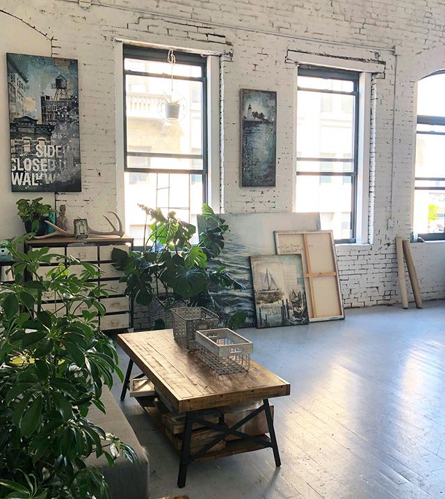 My happy place 🌱 Studio is open tonight for @sowaboston First Friday from 5:30-9 if you'd like to stop by!