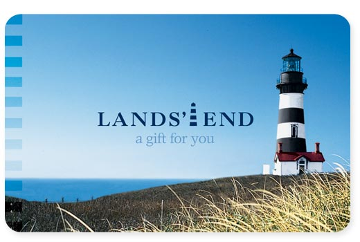 i have never seen a lands end gift card. perhaps i need to see several of them. in my hand...