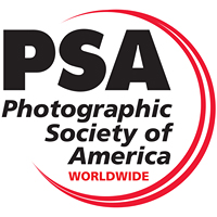 Photographic Society of America - I am very proud to be a member of this wonderful organization: the PSA is for all levels of photography - for those just picking up a camera to emerging artist and the professional! With special attention to Education - the PSA offers every photographer a chance to learn new concepts - click on the logo to be redirected to the website and have a look around. Thank you.