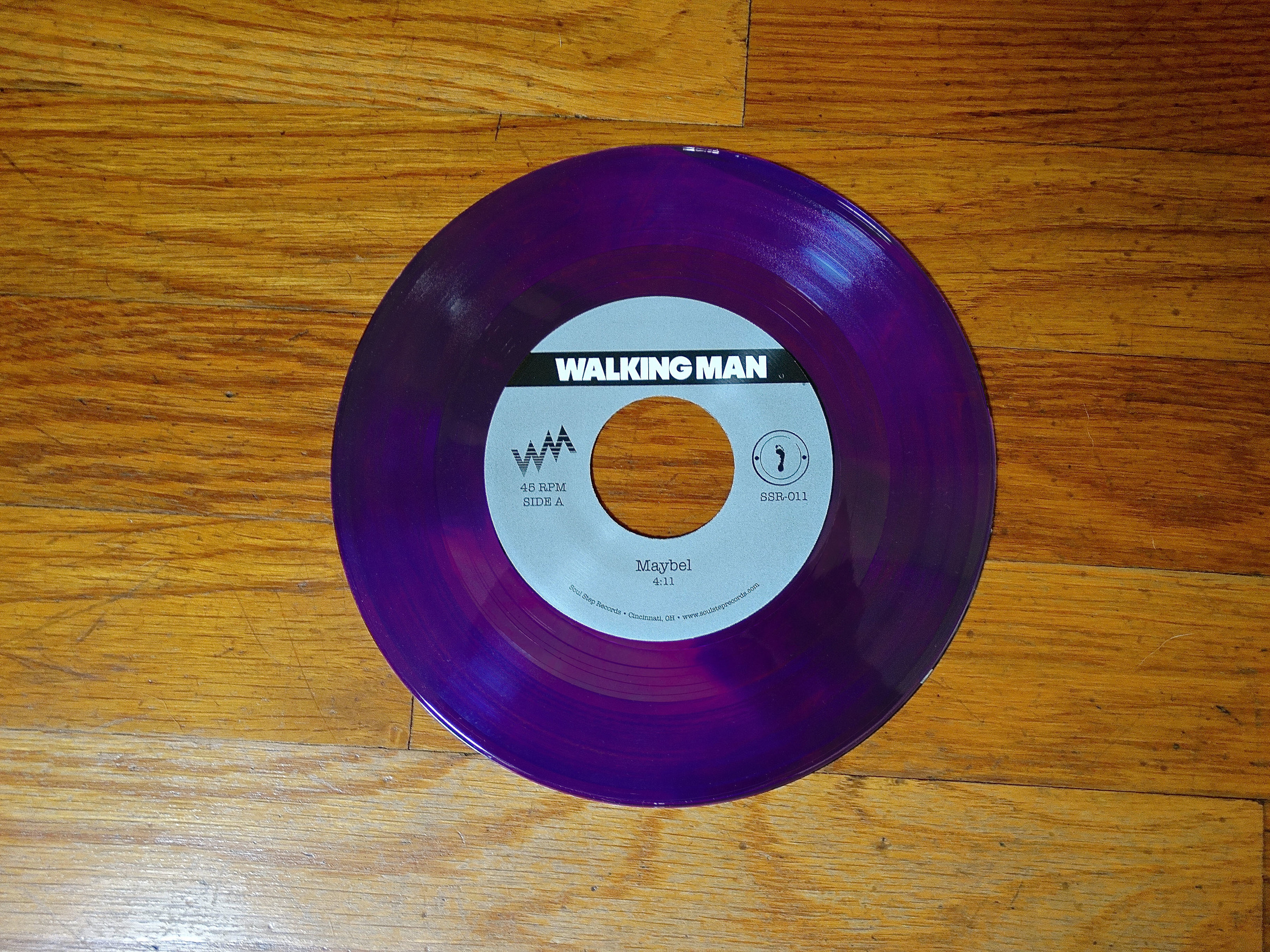 "SSR-011  Walking Man - ""Maybel / Masquerade""  || Translucent Violet Vinyl ||1 of 100 || SOLD OUT!"